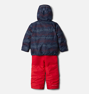 Toddler Buga™ Set Buga™ Set | 410 | 3T, Collegiate Navy Dotscape Print, Mtn Red, back