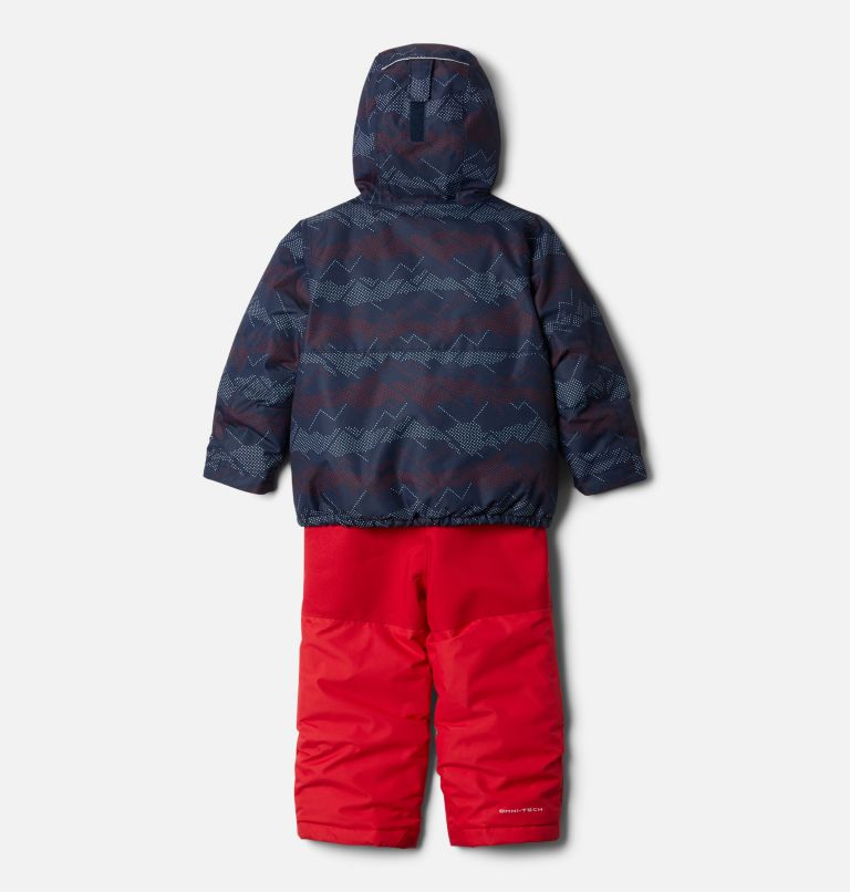 Buga™ Set | 464 | 3T Toddler Buga™ Set, Collegiate Navy Dotscape Print, Mtn Red, back