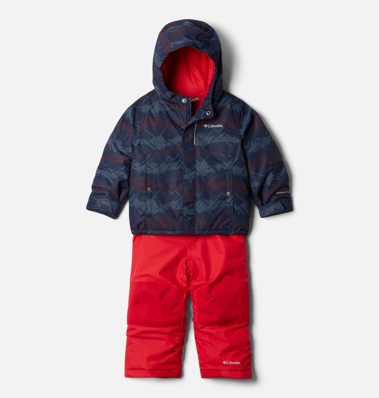 Buga™ Set | 464 | 3T Toddler Buga™ Set, Collegiate Navy Dotscape Print, Mtn Red, front