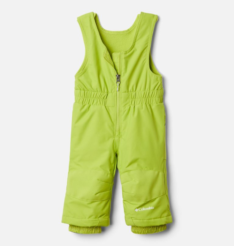 Buga™ Set | 023 | 12/18 Infant Buga™ Jacket & Bib Set, City Grey Dotscape Print, Brt Chartreuse, a2