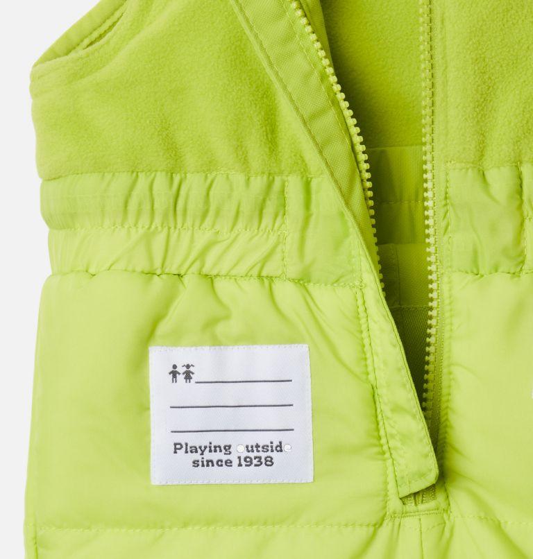 Buga™ Set | 023 | 12/18 Infant Buga™ Jacket & Bib Set, City Grey Dotscape Print, Brt Chartreuse, a4