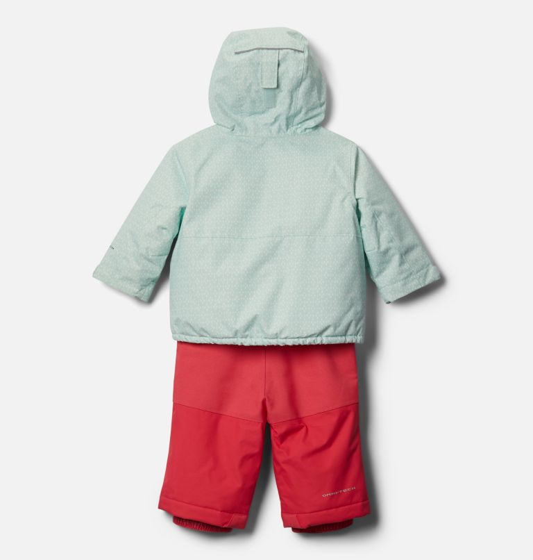 Buga™ Set | 310 | 6/12 Infant Buga™ Jacket & Bib Set, Sea Ice Sparklers Print, Pink Orchid, back