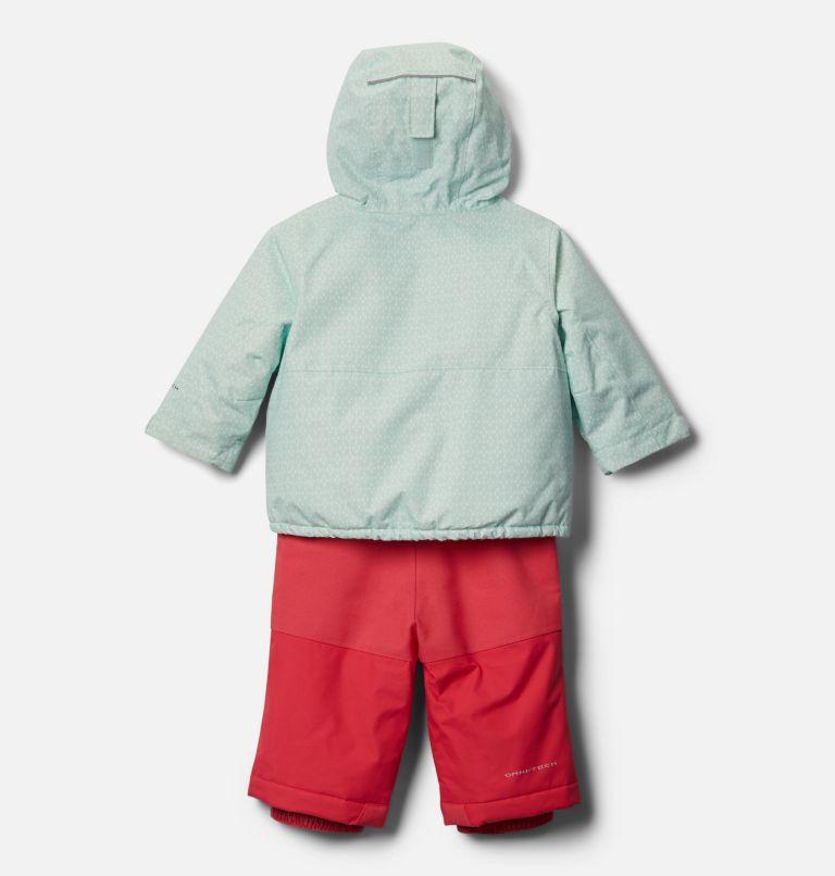 Buga™ Set | 310 | 6/12 Infant Buga™ Jacket & Bib Set, Sea Ice Sparklers Print, Pink Orchid, back