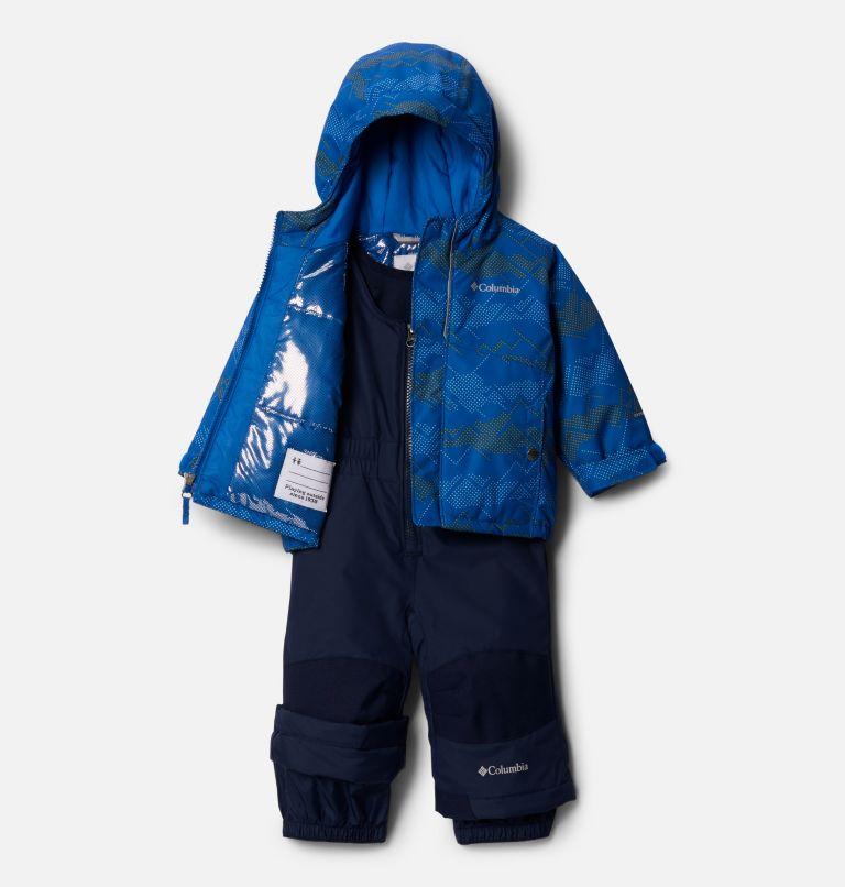 Buga™ Set   432   18/24 Infant Buga™ Jacket & Bib Set, Bright Indigo Dotscape Print, Brt Indigo, a1