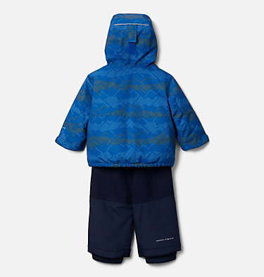 Infant Buga™ Jacket & Bib Set Buga™ Set | 310 | 12/18, Bright Indigo Dotscape Print, Brt Indigo, back