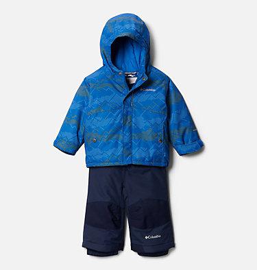 Infant Buga™ Jacket & Bib Set Buga™ Set | 310 | 12/18, Bright Indigo Dotscape Print, Brt Indigo, front