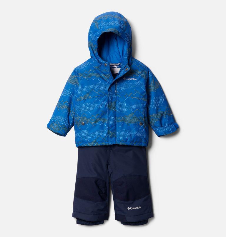 Buga™ Set   432   18/24 Infant Buga™ Jacket & Bib Set, Bright Indigo Dotscape Print, Brt Indigo, front
