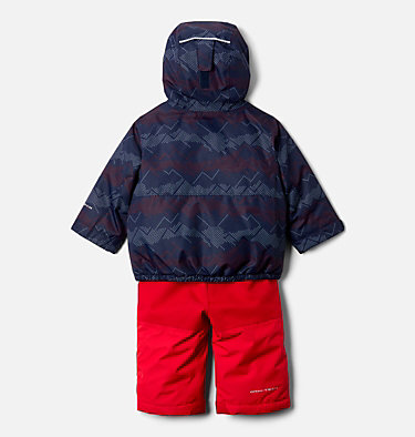 Infant Buga™ Jacket & Bib Set Buga™ Set | 310 | 12/18, Collegiate Navy Dotscape Print, Mtn Red, back