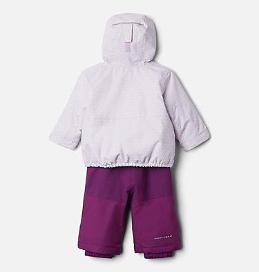 Infant Buga™ Jacket & Bib Set Buga™ Set | 310 | 12/18, Pale Lilac Sparklers Print, Pale Lilac, back