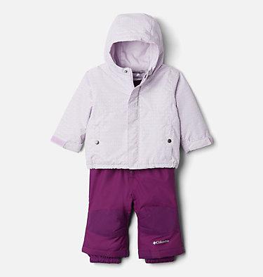 Infant Buga™ Jacket & Bib Set Buga™ Set | 310 | 12/18, Pale Lilac Sparklers Print, Pale Lilac, front