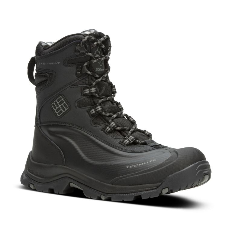 BUGABOOT™ PLUS III OMNI-HEAT™ | 010 | 11 Men's Bugaboot™ Plus III Omni-Heat™ Boot, Black, Charcoal, 3/4 front