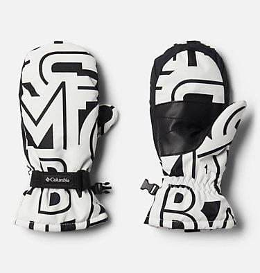Kids' Core™ Mittens Y Core™ Mitten | 432 | L, White Typo Print, front