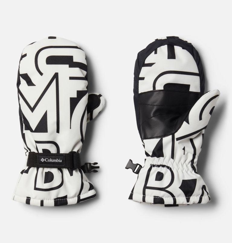 Y Core™ Mitten   100   L Kids' Core™ Mittens, White Typo Print, front