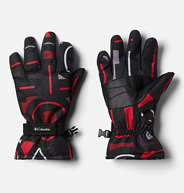 Kids' Core™ Gloves Y Core™ Glove | 013 | L, Black Typo Multi Print, front