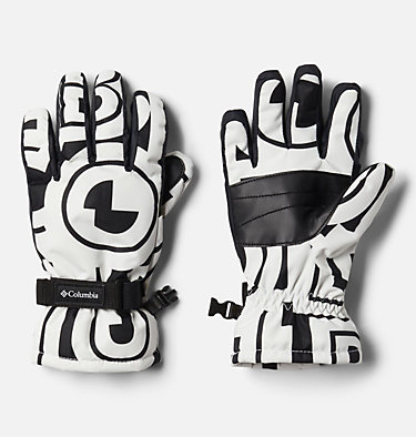 Kids' Core™ Gloves Y Core™ Glove | 013 | L, White Typo Print, front