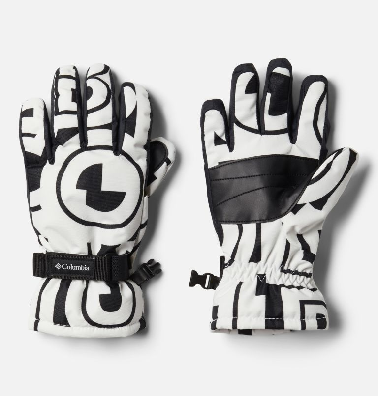 Y Core™ Glove | 100 | L Kids' Core™ Gloves, White Typo Print, front