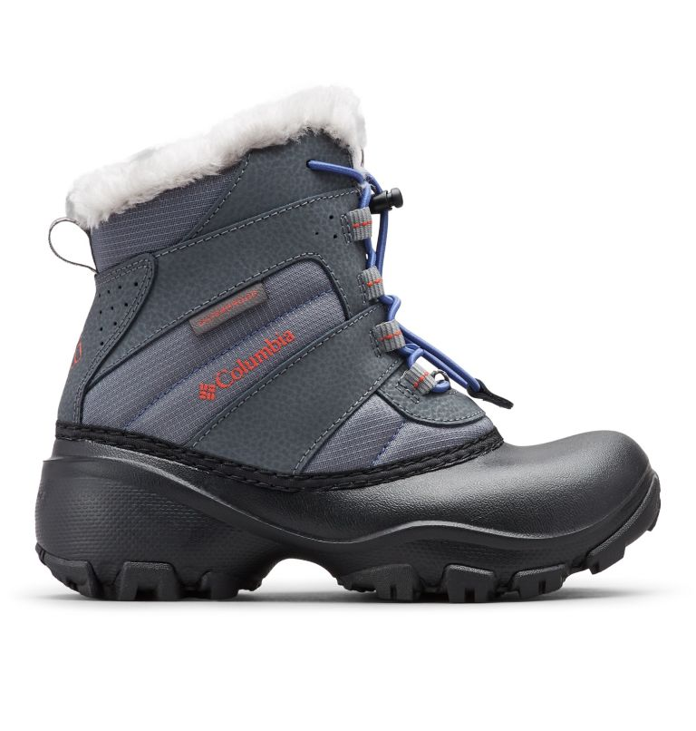 YOUTH ROPE TOW™ III WATERPROOF   033   6 Big Kids' Rope Tow™ Waterproof Faux-Fur Trim Boot, Ti Grey Steel, Red Canyon, front