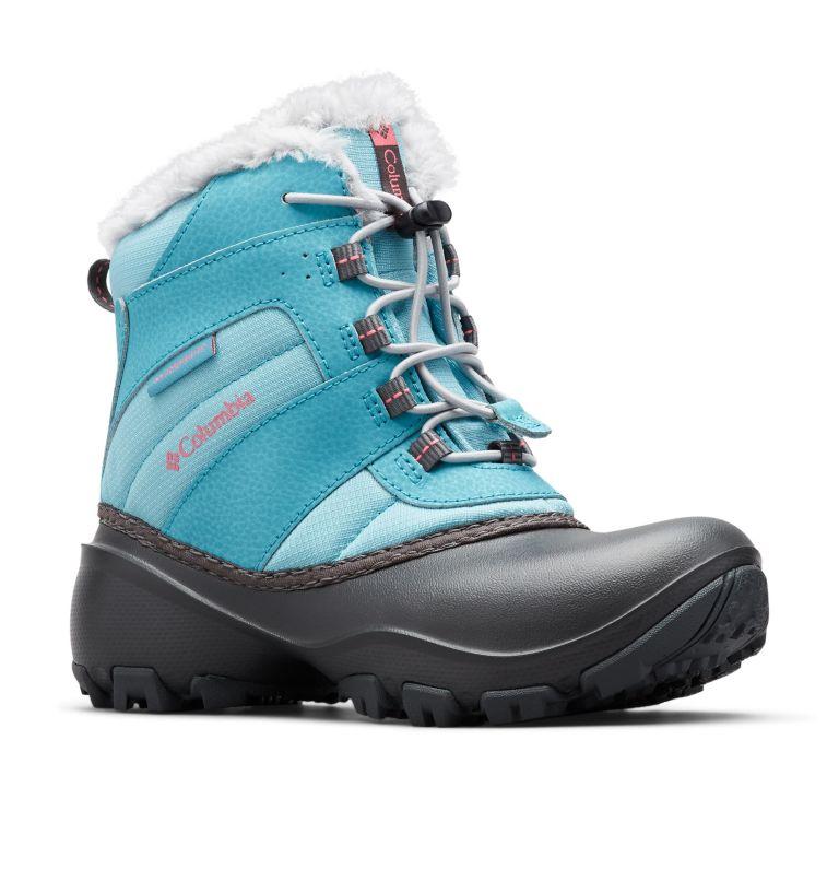 YOUTH ROPE TOW™ III WATERPROOF | 341 | 7 Big Kids' Rope Tow™ Waterproof Faux-Fur Trim Boot, Iceberg, Camellia Rose, 3/4 front