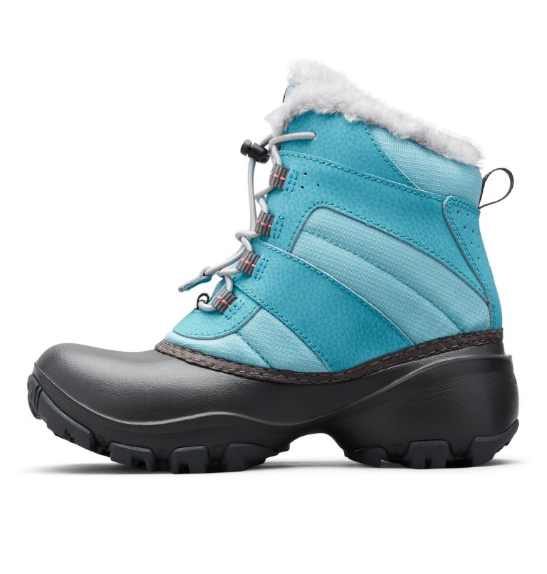 YOUTH ROPE TOW™ III WATERPROOF | 341 | 7 Big Kids' Rope Tow™ Waterproof Faux-Fur Trim Boot, Iceberg, Camellia Rose, medial