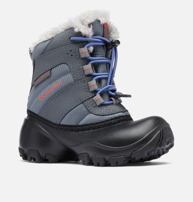 CHILDRENS ROPE TOW™ III WATERP | 033 | 8 Botte imperméable Rope Tow™ III Enfant, Ti Grey Steel, Red Canyon, 3/4 front
