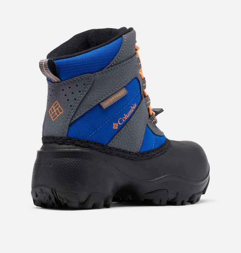 CHILDRENS ROPE TOW™ III WATERP | 437 | 9 Little Kids' Rope Tow™ Waterproof Boot, Azul, Orange Blast, 3/4 back