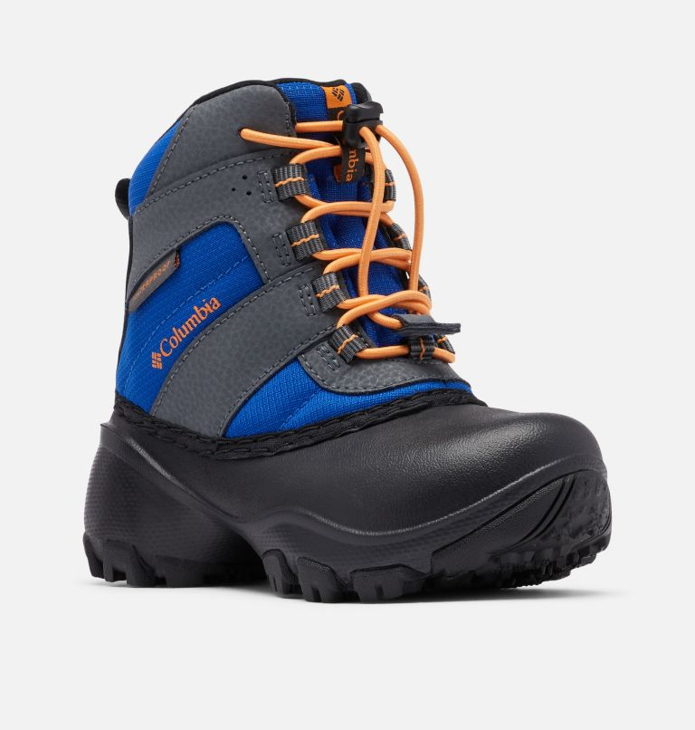 CHILDRENS ROPE TOW™ III WATERP | 437 | 8 Little Kids' Rope Tow™ Waterproof Boot, Azul, Orange Blast, 3/4 front