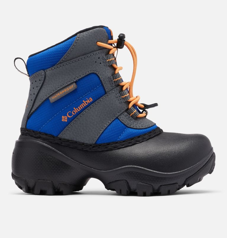 CHILDRENS ROPE TOW™ III WATERP | 437 | 9 Little Kids' Rope Tow™ Waterproof Boot, Azul, Orange Blast, front