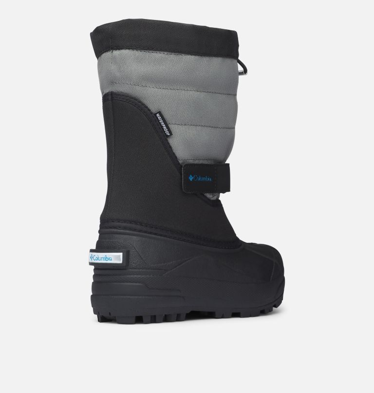YOUTH POWDERBUG™ PLUS II | 010 | 5 Big Kids' Powderbug™ Plus II Snow Boot, Black, Hyper Blue, 3/4 back