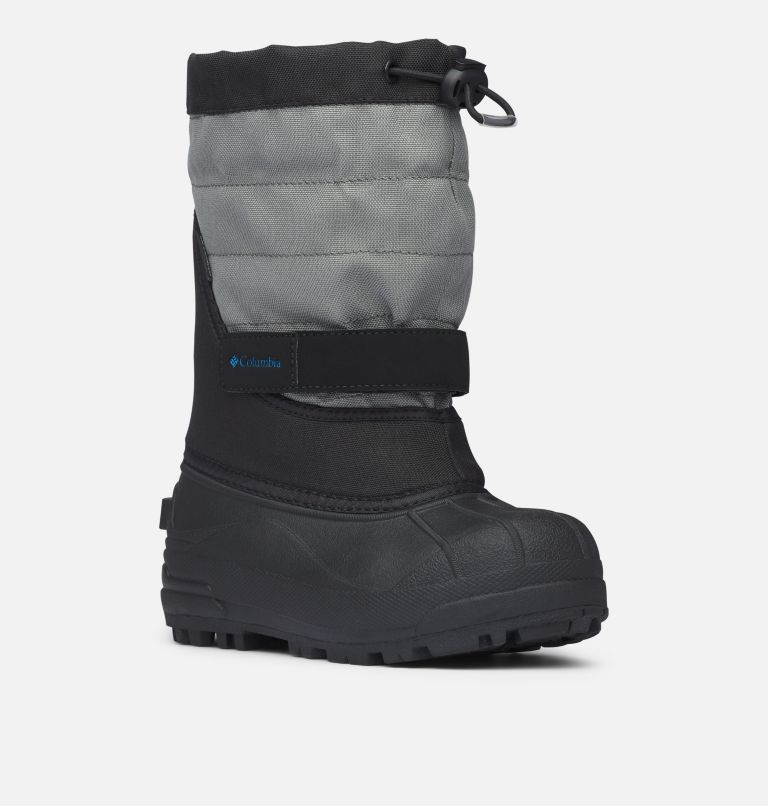 YOUTH POWDERBUG™ PLUS II | 010 | 5 Big Kids' Powderbug™ Plus II Snow Boot, Black, Hyper Blue, 3/4 front