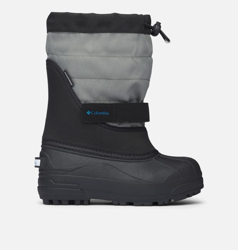 YOUTH POWDERBUG™ PLUS II | 010 | 5 Big Kids' Powderbug™ Plus II Snow Boot, Black, Hyper Blue, front