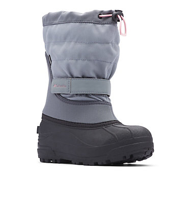 Big Kids' Powderbug™ Plus II Snow Boot YOUTH POWDERBUG™ PLUS II | 513 | 1, Grey Ash, Rosewater, 3/4 front