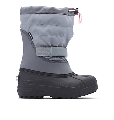 Big Kids' Powderbug™ Plus II Snow Boot YOUTH POWDERBUG™ PLUS II | 513 | 1, Grey Ash, Rosewater, front