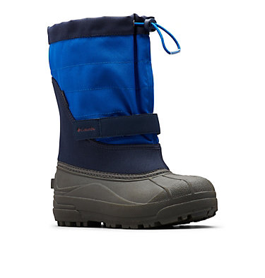 Big Kids' Powderbug™ Plus II Snow Boot YOUTH POWDERBUG™ PLUS II | 513 | 1, Collegiate Navy, Chili, 3/4 front