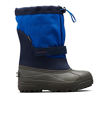 Big Kids' Powderbug™ Plus II Snow Boot YOUTH POWDERBUG™ PLUS II | 513 | 1, Collegiate Navy, Chili, front