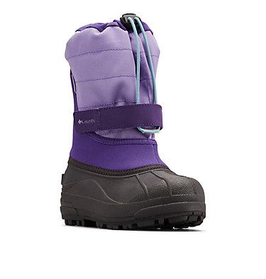 Big Kids' Powderbug™ Plus II Snow Boot YOUTH POWDERBUG™ PLUS II | 513 | 1, Emperor, Paisley Purple, 3/4 front