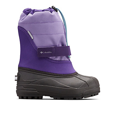 Big Kids' Powderbug™ Plus II Snow Boot YOUTH POWDERBUG™ PLUS II | 513 | 1, Emperor, Paisley Purple, front