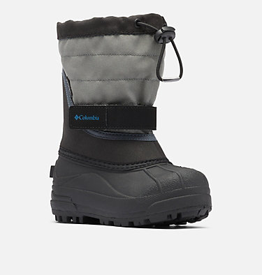 Little Kids' Powderbug™ Plus II Snow Boot CHILDRENS POWDERBUG™ PLUS II | 513 | 10, Black, Hyper Blue, 3/4 front