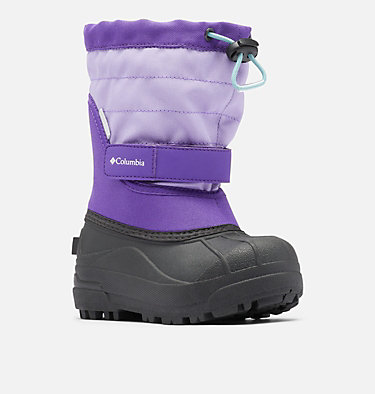 Little Kids' Powderbug™ Plus II Snow Boot CHILDRENS POWDERBUG™ PLUS II | 513 | 10, Emperor, Paisley Purple, 3/4 front