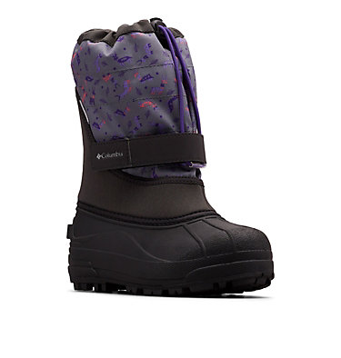 Big Kids' Powderbug™ Plus II Print Snow Boot YOUTH POWDERBUG™ PLUS II PRINT | 053 | 1, Shark, Emperor, 3/4 front