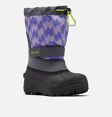 Big Kids' Powderbug™ Plus II Print Snow Boot YOUTH POWDERBUG™ PLUS II PRINT | 053 | 1, Graphite, Voltage, 3/4 front