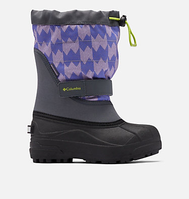 Big Kids' Powderbug™ Plus II Print Snow Boot YOUTH POWDERBUG™ PLUS II PRINT | 053 | 1, Graphite, Voltage, front