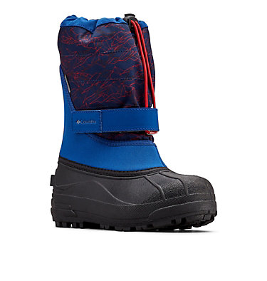 Big Kids' Powderbug™ Plus II Print Snow Boot YOUTH POWDERBUG™ PLUS II PRINT | 053 | 1, Royal, Rocket, 3/4 front