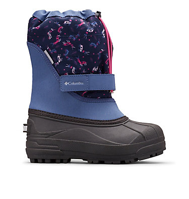 Big Kids' Powderbug™ Plus II Print Snow Boot YOUTH POWDERBUG™ PLUS II PRINT | 053 | 1, Bluebell, Pink Ice, front
