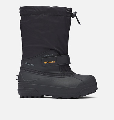 Big Kids' Powderbug™ Forty Snow Boot YOUTH POWDERBUG™ FORTY | 408 | 1, Black, Orange Blast, front
