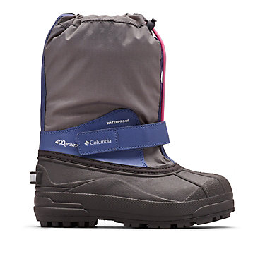 Big Kids' Powderbug™ Forty Snow Boot YOUTH POWDERBUG™ FORTY | 408 | 1, Ti Grey Steel, Pink Ice, front