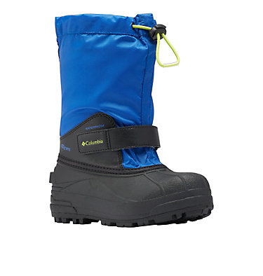 Big Kids' Powderbug™ Forty Snow Boot YOUTH POWDERBUG™ FORTY | 408 | 1, Cobalt, Acid Green, 3/4 front