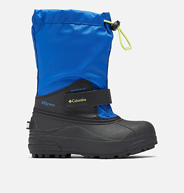 Big Kids' Powderbug™ Forty Snow Boot YOUTH POWDERBUG™ FORTY | 408 | 1, Cobalt, Acid Green, front