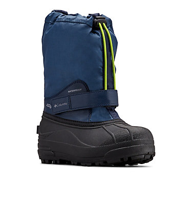 Big Kids' Powderbug™ Forty Snow Boot YOUTH POWDERBUG™ FORTY | 408 | 1, Whale, Fission, 3/4 front