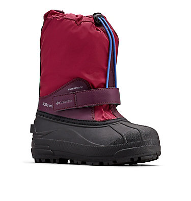 Big Kids' Powderbug™ Forty Snow Boot YOUTH POWDERBUG™ FORTY | 408 | 1, Wine Berry, Arctic Blue, 3/4 front
