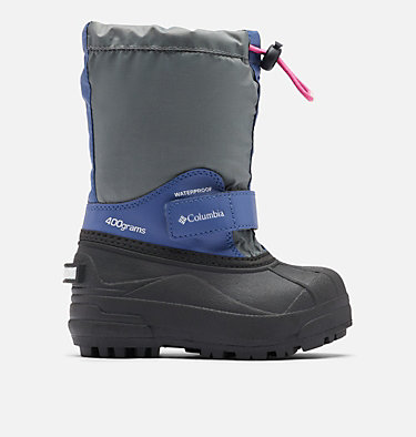 Little Kids' Powderbug™ Forty Snow Boot CHILDRENS POWDERBUG™ FORTY | 408 | 10, Ti Grey Steel, Pink Ice, front